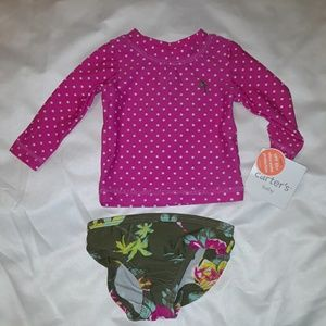 Nwt 2 Infant Girl bathing suits